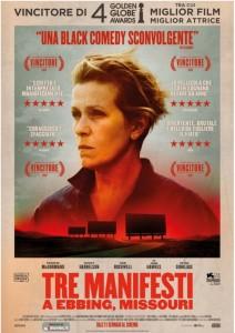 USA, 2017 Regia: Martin McDonagh Interpreti: Frances McDormand,Woody Harrelson Thriller/Drammatico. Durata 115 min. Orario: 16,15 – 18,15 – 20,15